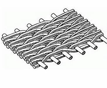 A drawing of the reverse dutch woven wire cloth.