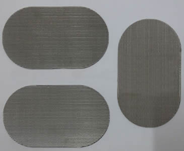 Three pieces of oval filter discs with reverse dutch weave.