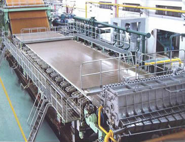 Brass woven wire cloth is installed on the papermaking machine.