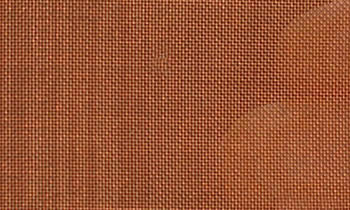 A piece of red copper woven wire cloth.